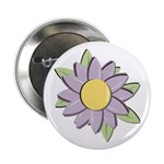 "Purple Cartoon Flower Spring 2.25"" Button (100 pac"