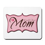 Pink World's Best Mom Plaque Mousepad