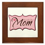 Pink World's Best Mom Plaque Framed Tile