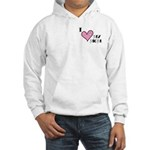 I Love Heart My Mom Mother's Day Hooded Sweatshirt