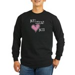 My Kids Love Heart Me Mom Teacher Long Sleeve Dark