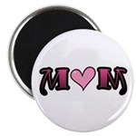 "Tattoo Mom Pink Heart Mother's 2.25"" Magnet (10 pa"