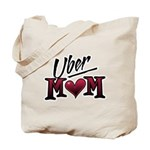 Uber Mom Mother's Day Heart Tote Bag