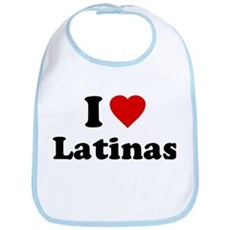 I Love [Heart] Latinas Bib