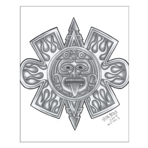 Aztec Sun Tattoo Posters. Made by Skeletons in the Closet