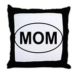 Mom European Oval Mother's Day Throw Pillow
