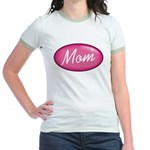 Pink Mom is my Idol Logo Jr. Ringer T-Shirt