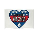 Heart Wonder Mom Mother's Rectangle Magnet (100 pa