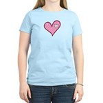 Pink Heart Cartoon Smile Smiley Women's Light T-Sh