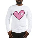 Pink Heart Cartoon Smile Smiley Long Sleeve T-Shir