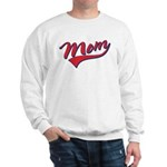 Baseball Style Swoosh Mom Sweatshirt