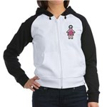 Pink Soccer Mom Cute Girl Art Women's Raglan Hoodi