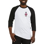 Pink Soccer Mom Cute Girl Art Baseball Jersey