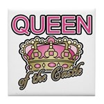 Queen of the Castle Crown Mother Tile Coaster