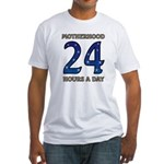 Motherhood 24 hours a day 24/7 Job Fitted T-Shirt