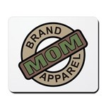 Mom Name Brand Apparel Logo Mousepad