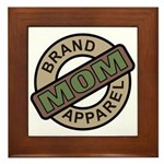Mom Name Brand Apparel Logo Framed Tile