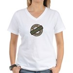 Mom Name Brand Apparel Logo Women's V-Neck T-Shirt
