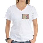 Mother Plaque with Hearts Mother's Women's V-Neck
