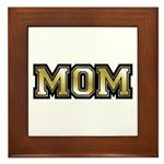 Golden Mom Name Gold Letters Framed Tile