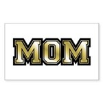 Golden Mom Name Gold Letters Rectangle Sticker
