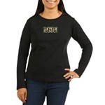 Golden Mom Name Gold Letters Women's Long Sleeve D