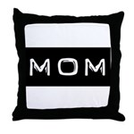 Dymo Black Label Me Mom Mother Throw Pillow
