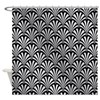 Elegant Black and Silver Art Deco Shower Curtain