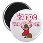 "Carpe Vacationem f 2.25"" Magnet (10 pack)"