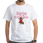 Carpe Vacationem f White T-Shirt