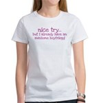 My BoyFriend is Awesome Women's T-Shirt