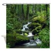 Summer Forest Brook Shower Curtain