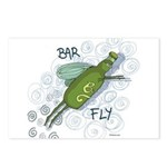 Bar Fly Drinking Postcards (Package of 8)