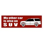 My other car is also an SUV Red Bumper Sticker