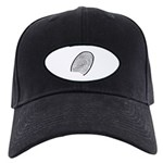 Subtle Thumb Print Black Cap