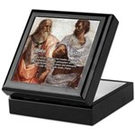 Plato Aristotle Philosophy Keepsake Box