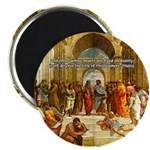 "Raphael School of Athens 2.25"" Magnet (10 pack)"