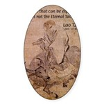 Lao Tzu Philosophy of Tao Oval Sticker