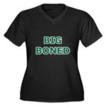 Big Boned Women's Plus Size V-Neck Dark T-Shirt