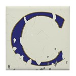Distressed Blue Letter C Tiles