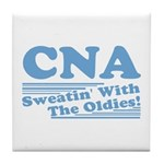 CNA Sweatin' With The Oldies Tile Coaster