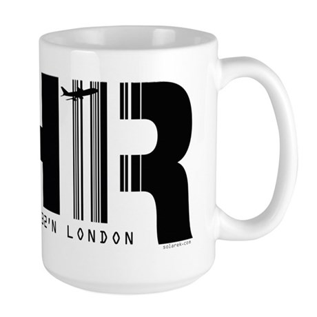 London Heathrow Airport Code LHR Large Mug