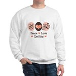 Bicycle Peace Love Cycling Sweatshirt