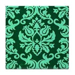 Verdant Damask Tile Coaster