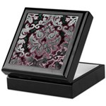 Silver Damask Keepsake Box