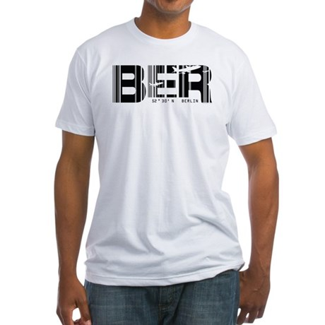 Berlin Germany BER Air Wear Airport Fitted T-Shirt