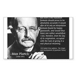 Max Planck Quantum Theory Rectangle Sticker