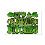 It's a Celebration Bitches Shamrock Mini Poster Pr