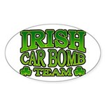 Irish Car Bomb Team Shamrock Oval Sticker