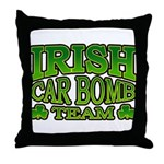 Irish Car Bomb Team Shamrock Throw Pillow